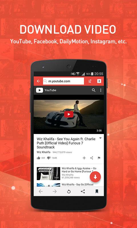 YouTube, Facebook, DailyMotion, Instagram, etc.